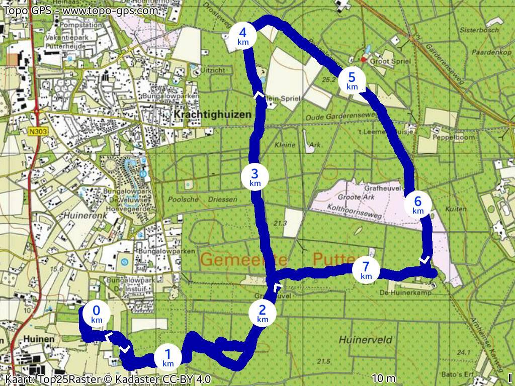 Route Paardenhotel Putten